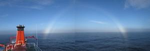 Halo's gab es mehrere zu sehen. Immer wieder schön und in unseren Breiten eher seltener.