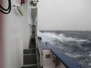 Ein bisschen Wind und Welle gab es auch - es konnte dennoch gearbeitet werden.