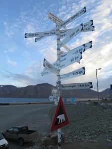 Es ist ganz schön weit überallhin von Longyearbyen aus.